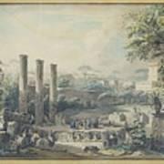 Temple De Serapis Art Print