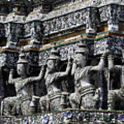 Temple Detail In Bangkok Thialand Art Print