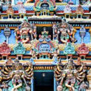 Temple Facade Chennai India Art Print