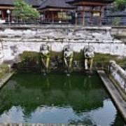 Temple Fountain Art Print
