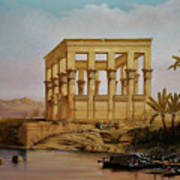 Temple Of Isis On The Nile River Art Print