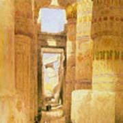 Temple Of Karnak  Art Print