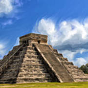 Temple Of The Feathered Serpent Art Print