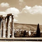Temple Of Zeus Art Print by John Rizzuto
