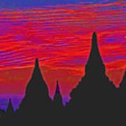 Temple Silhouettes Art Print
