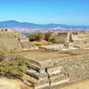 Temples In Monte Alban Art Print