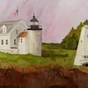Tenants Harbor Light Art Print