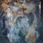 Tender Kiss Art Print