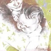 Tenderness In Green Art Print