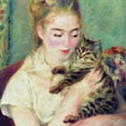 Tenderness Of A Woman Art Print