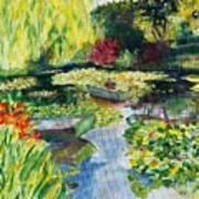 Tending The Pond Art Print