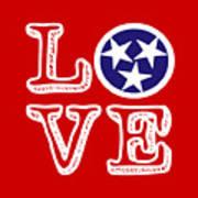 Tennessee Flag Love Art Print
