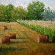 Tennessee Hay And Corn Fields Art Print