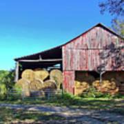 Tennessee Hay Barn Art Print