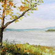Tennessee River In The Fall Art Print