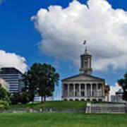 Tennessee State Capitol Nashville Print by Susanne Van Hulst