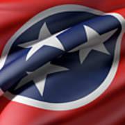 Tennessee State Flag Art Print