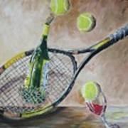 Tennis And Wine Art Print