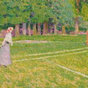 Tennis At Hertingfordbury Print by Spencer Frederick Gore