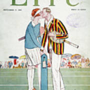 Tennis Court Romance, 1925 Art Print
