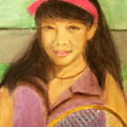 Tennis Player, 8x10, Pastel, '07 Art Print