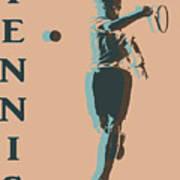 Tennis Player Pop Art Poster Art Print