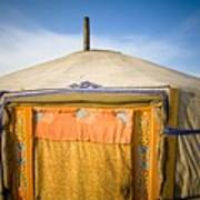 Tent In The Desert Ulaanbaatar, Mongolia Art Print