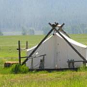 Tent Living Montana 2010 Art Print