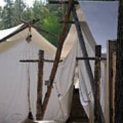 Tent Living Montana Art Print