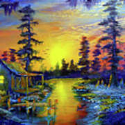 Tequila Sunrise In The Swamp Art Print