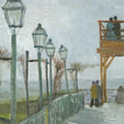 Terrace And Observation Deck At The Moulin De Blute Fin Art Print