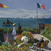 Terrace At Sainte-adresse Art Print
