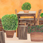 Terrace In Tuscany Art Print