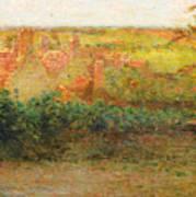Terrace, Sun, Gerberoy Art Print