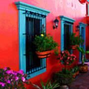 Terrace Windows At Casa De Leyendas By Darian Day Art Print