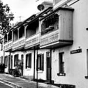 Terraced Houses - Black And White By Kaye Menner Art Print