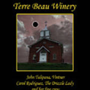 Terre Beau Winery 2017 Eclipse Poster Art Print