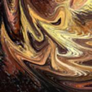Terrestrial Brush Strokes  Art Print