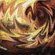 Terrestrial Flames Abstract  Art Print