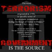 Terrorism Art Print