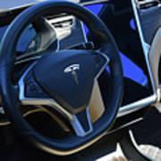 Tesla S85d Cockpit Art Print