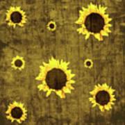 Test Rustic Sunflower Custom Art Print