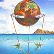 Tethered Sphere Art Print