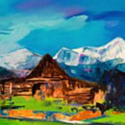 Teton Barn  Art Print
