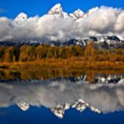 Teton Cloud Swarm Art Print
