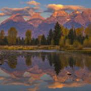 Teton Morning Mirror Art Print