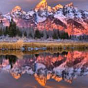 Teton Sunrise Spectacular Art Print