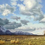 Tetons-Moose Art Print