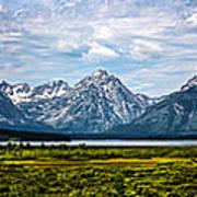 Tetons - Panorama Art Print