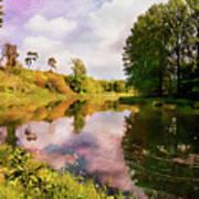 Teviot River Near Kelso. Art Print